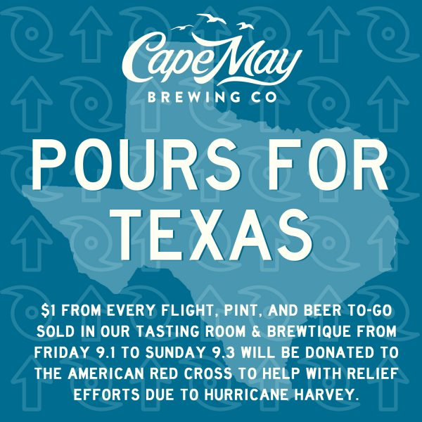 cape may brewing harvey relief
