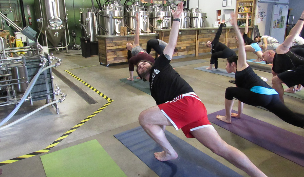 I Tried Beer Yoga For The First Time This Is What Happened