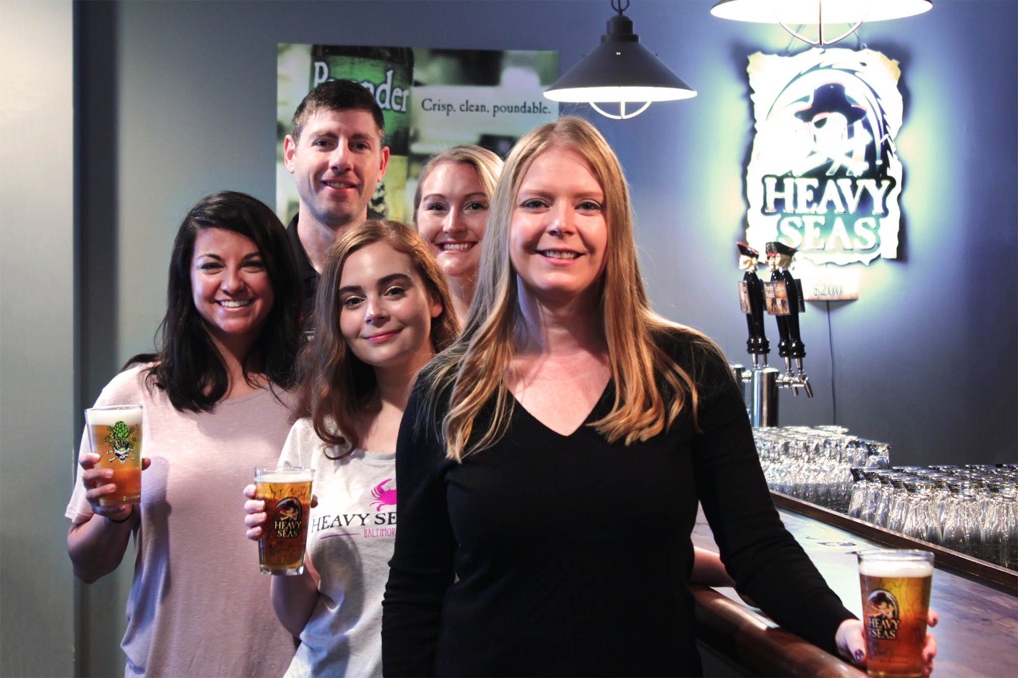 Pictured (left to right, back to front): Tristan Gilbert, Brand Manager;Christine Shaffer, Communications Specialist; Caroline Sisson, Events Coordinator; Amanda Zivkovic, Events Coordinator; Sarah West, Director of Marketing & Hospitality