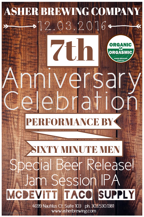 Asher Organic Ales 7th anniversary