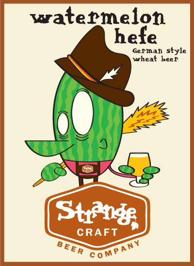 strange craft beer company's watermelon hefe
